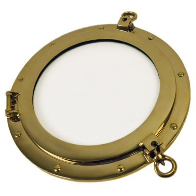 "12"" Solid Brass Wall Mount Porthole Window"