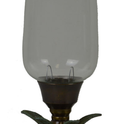 "12""H Palm Tree Hurricane Candle Holder"