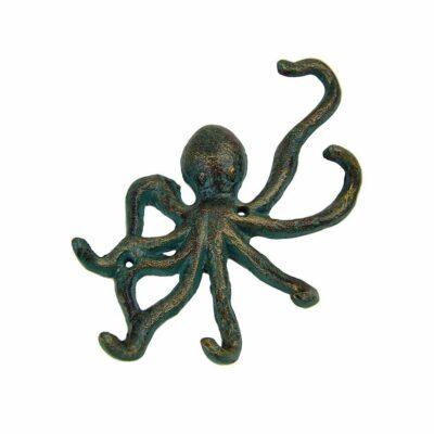 """6""""w Cast Iron Octopus Wall Mount Key Hook - 6 Hooks"""