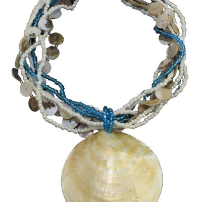 "Aruba Royal Blue Beaded Necklace 20""L"
