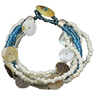 "Aruba Royal Blue Beaded Bracelet 9""L"