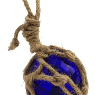 """3"""" Blue Glass Float in Net"""