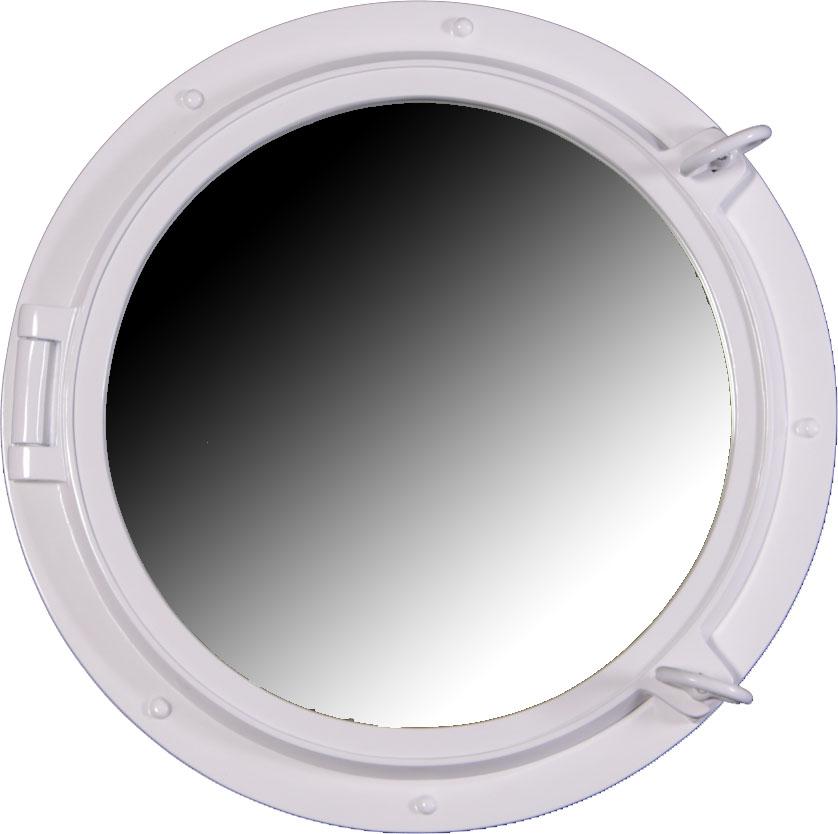 """24"""" Duco White Finish Porthole Mirror Fiberglass Resin"""