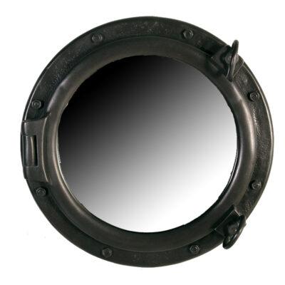 """20"""" Iron Finish Wall Mount Porthole Mirror"""