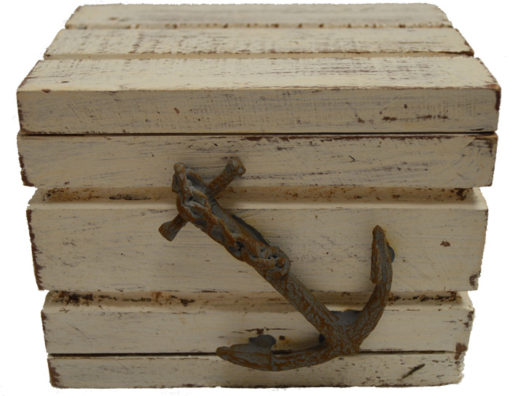 "Large with Wash Chest with Anchor 5""W Wood"