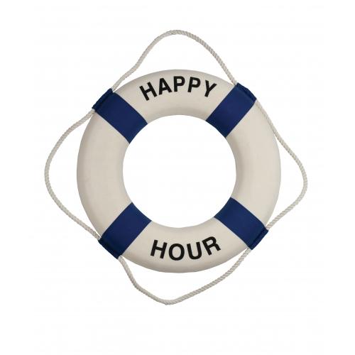 "18""Dia Happy Hour Decorative Lifering - Encased Styrofoam"