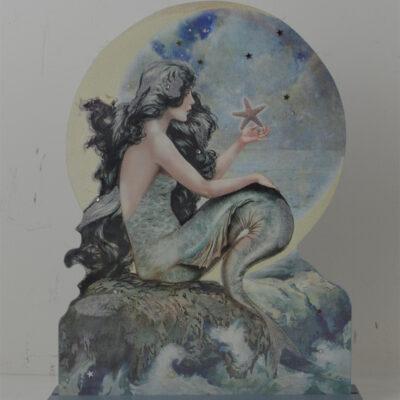 """13""""H Beauty of the Sea Mermaid Die Cut Table Topper"""