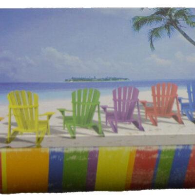 "Beached Food Safe Tin Box 7 5/8""L Nautical Tropical Home Decor"