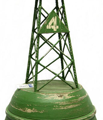 "18.5""h Wood and Iron Green Navigational Buoy Decor"