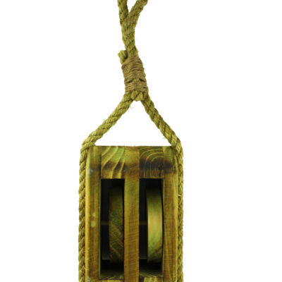 "12.5""H Wooden Pulley Decor"