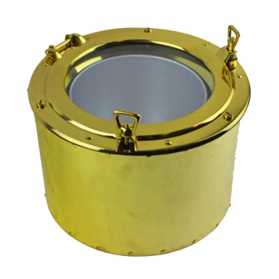 "11.5""Dia Solid Brass Porthole Ice Bucket"