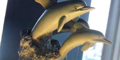 Dolphin Decor | Bay Cafe at Fisherman's Terminal, Seattle WA