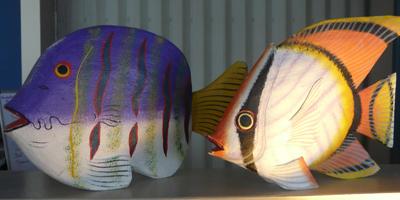 Fish Decor | Bay Cafe at Fisherman's Terminal, Seattle WA