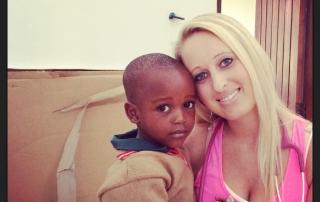 Jenna helping Sylvia's Children