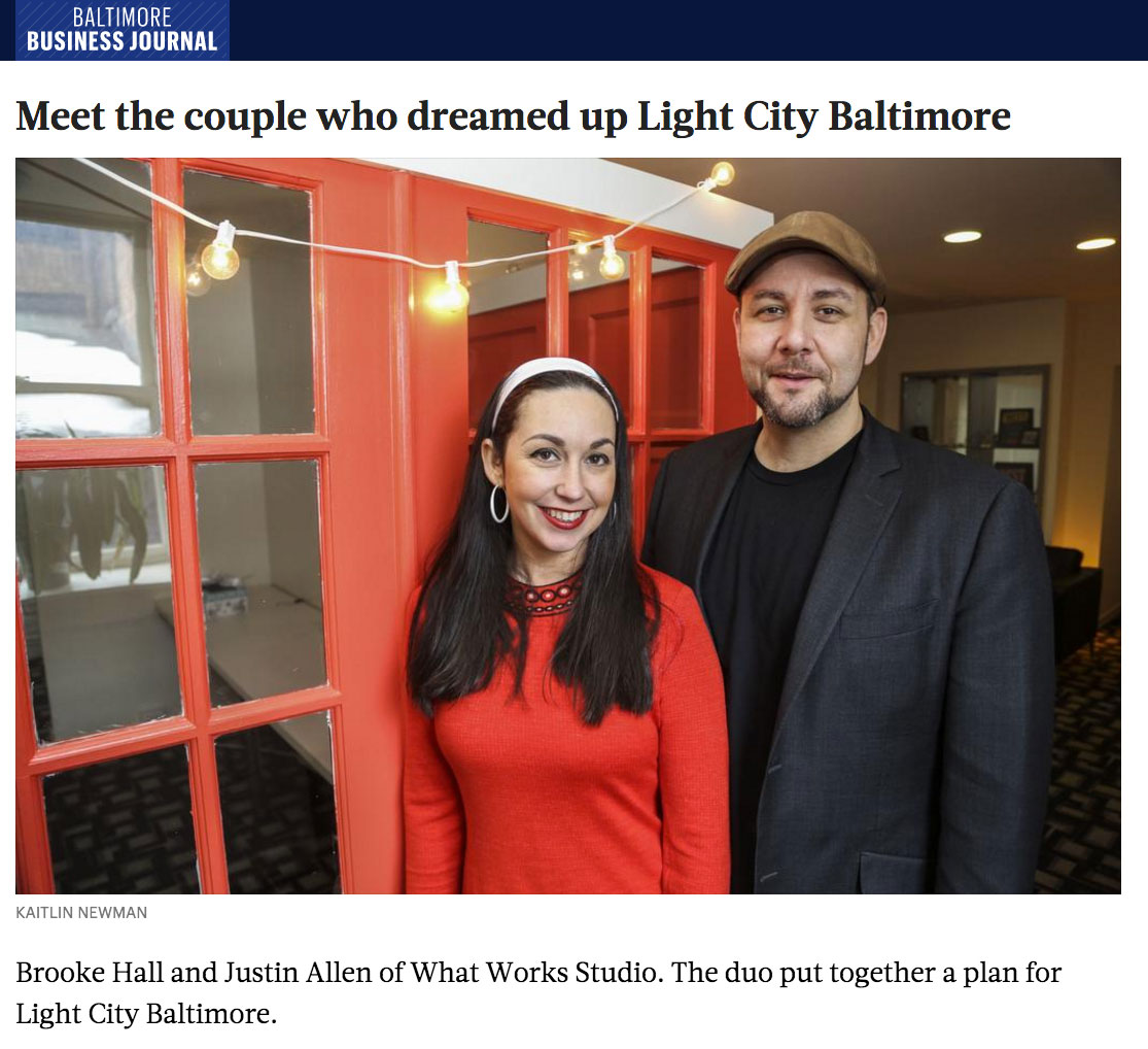 Brooke Hall Justin Allen Light City Baltimore