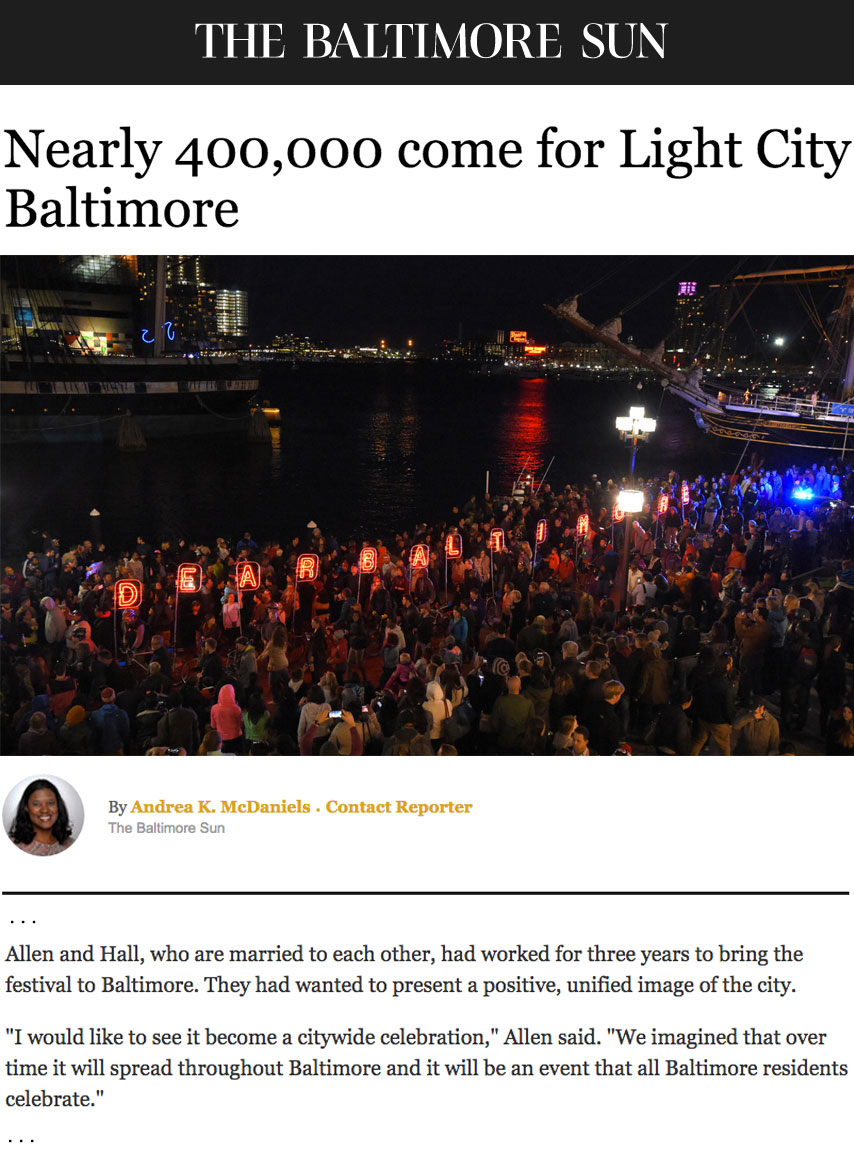 Brooke Hall Justin Allen Light City brings 400,000 people to Inner Harbor Baltimore