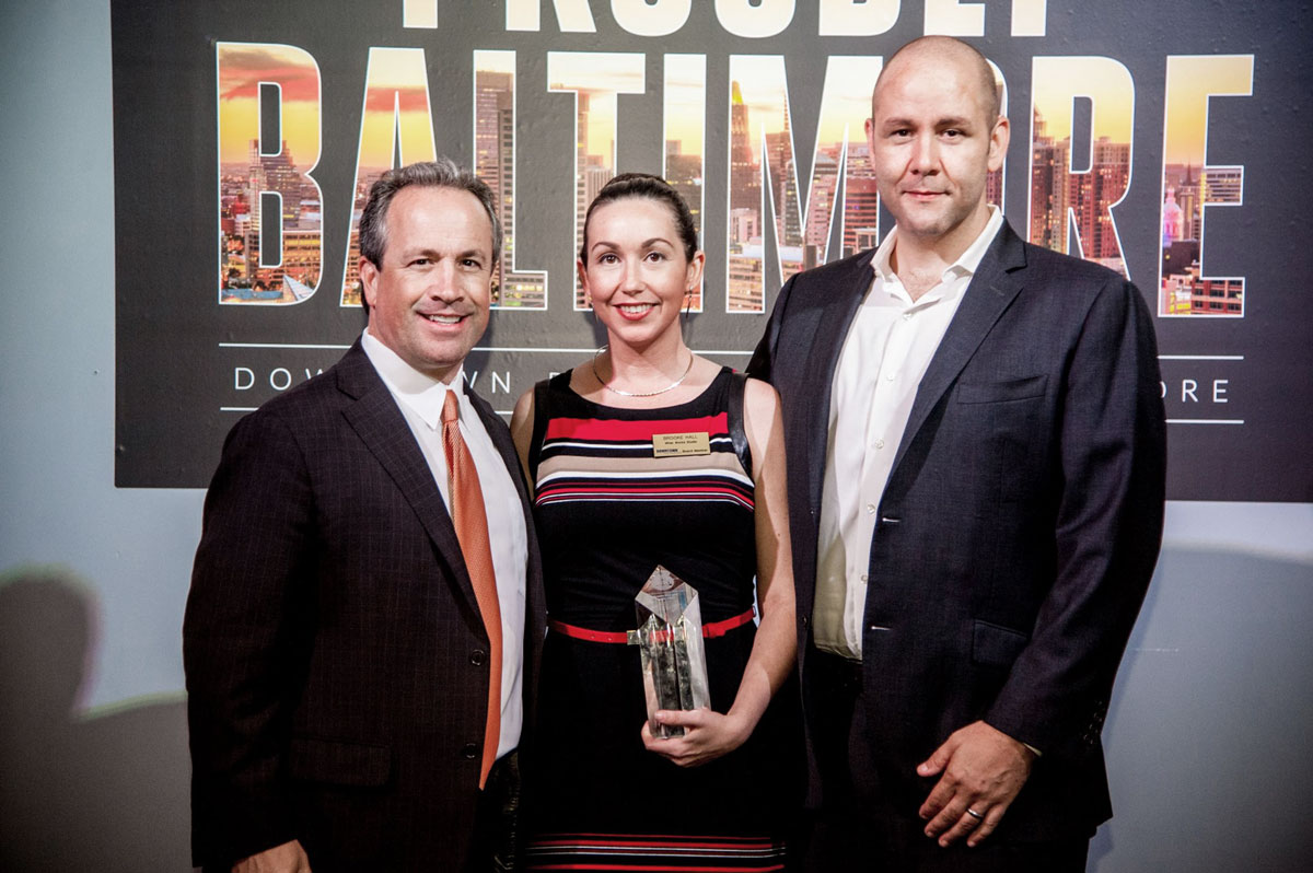 Brooke Hall and Justin Allen of Light City win Downtown Partnership Award