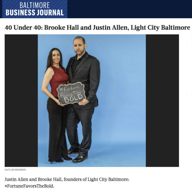 Brooke Hall and Justin Allen Win Light City Founders