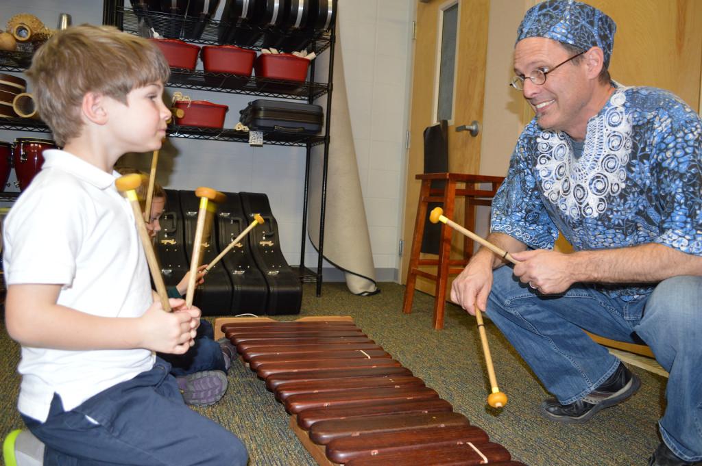 Kutandara teaching at local schools
