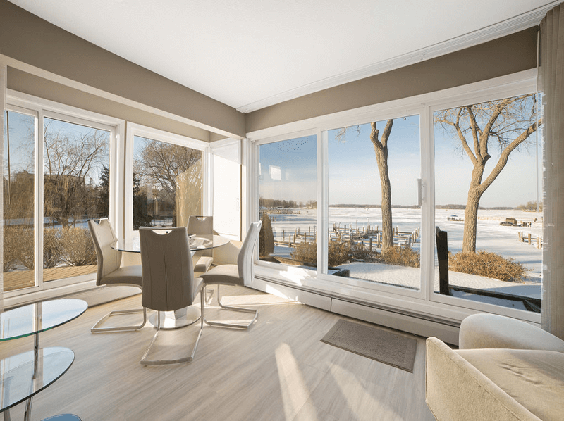 Living Room Looking on Lake Minnetonka