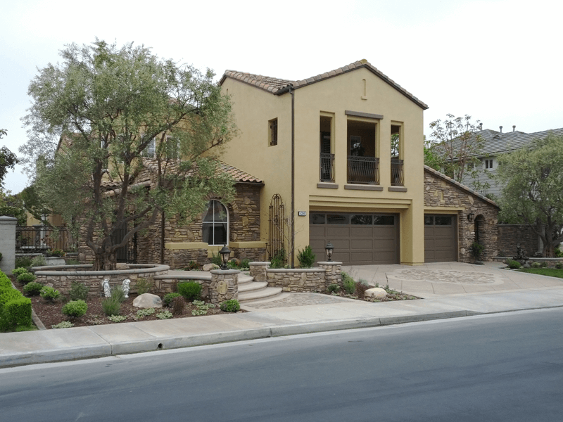 Southwest Exterior Drawn From Rock Color