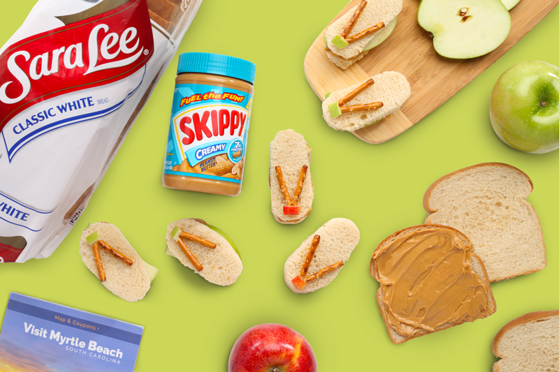 Beach Sandal Snacks with Sara Lee® and Skippy®