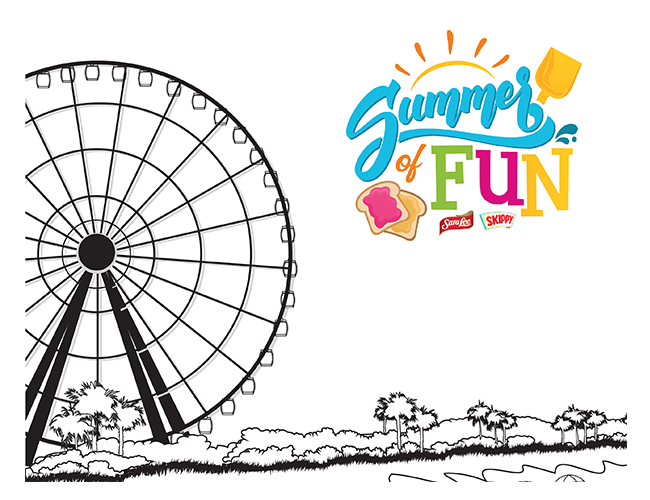 Summer of Fun SkyWheel Coloring Page
