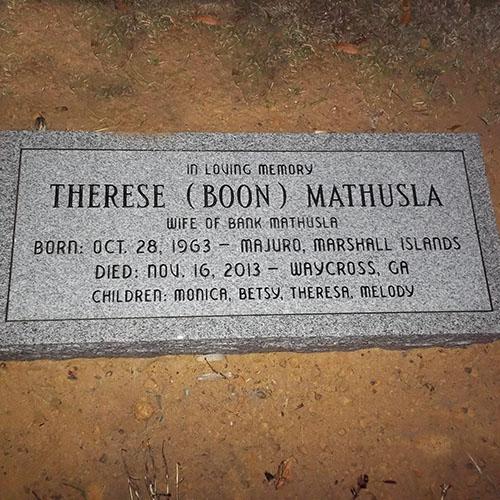 Therese Boon Mathusla 1963 2013 Monumentaltribute Com