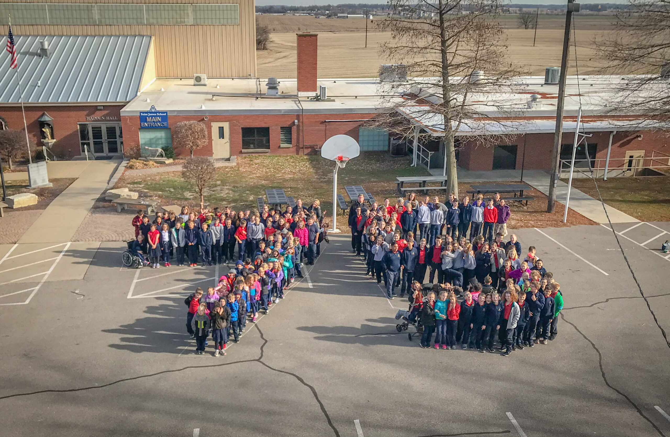 Happy 75th anniversary to the Diocese of Evansville from the students and staff at St. James School in Haubstadt! Submitted photo