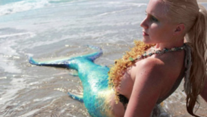 mermaid melissa beach mermaid tail green blue beach