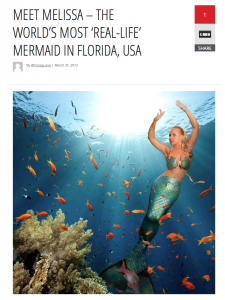 Mermaid News Article write up in the press