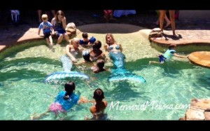 aquatic mermaid performers childrens party