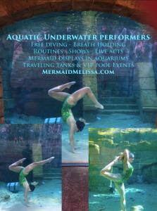 underwater performers for hire act