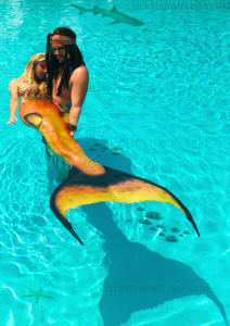 mermaid and pirate underwater model
