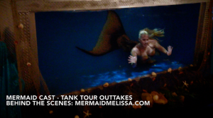 mermaid melissa live shows in rentable aquarium tank