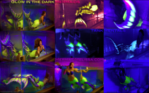 glow in the dark blacklight mermaid