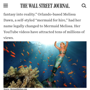 the wall street journal mermaid melissa mermaid for hire real life mermaid name change article press famous mermaid