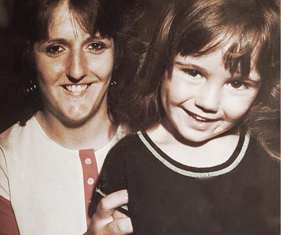 a picture of my mother and I when I was 5