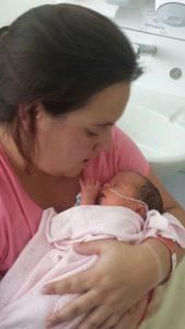 Me holding a new born alyssa