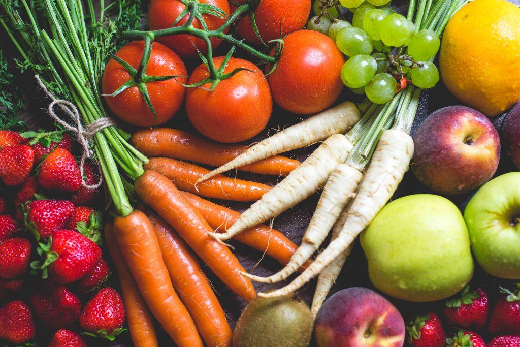 stack of vegetables