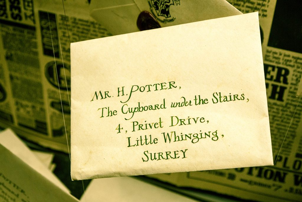 harry potters hogwarts letter