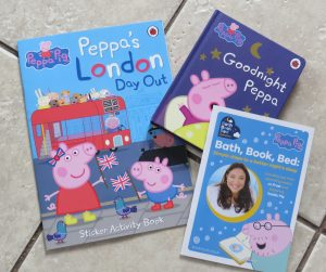 two peppa pig books and jo frosts booklet