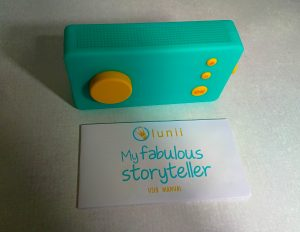 the lunii story teller with it's instruction book