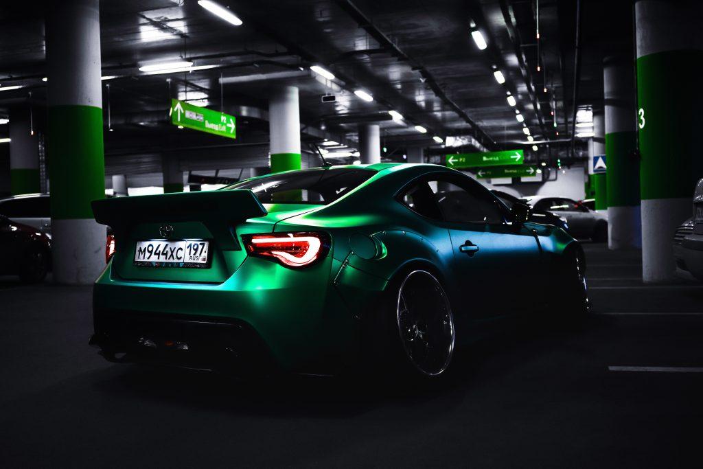 green super car