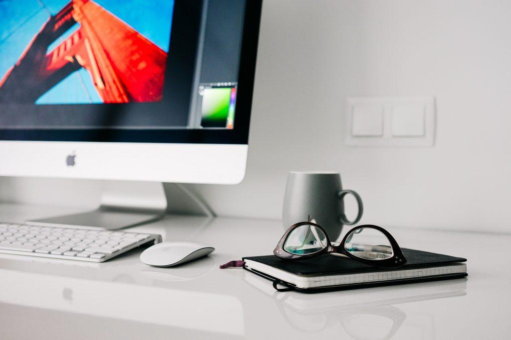 desk in an office