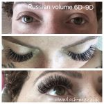 Russian Volume mink eyelash extensions known as 6D – 9D
