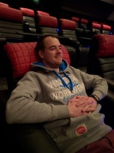 Relaxing in the cinema