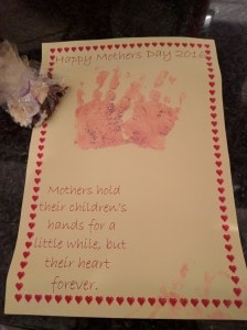 My Mother's Day gift from Nursery