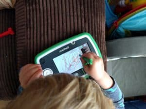 Drawing on his LeapPad3