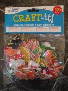 Autumn Friends Foam Stickers